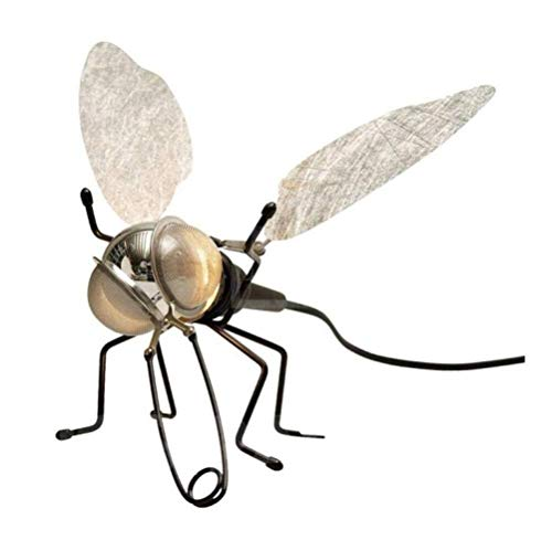 Yangmanini Forma Creativa lámpara de Pared de Metal Ligero de la Pared del Insecto Hermoso Elegante Pared de iluminación con el Interruptor y Cable y Enchufe, Color, A