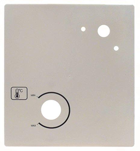 Horeca-Select bedieningspaneel voor vitrine breedte 130 mm hoogte 145 mm kunststof symbool temperatuur MIN/MAX diepte 23 mm