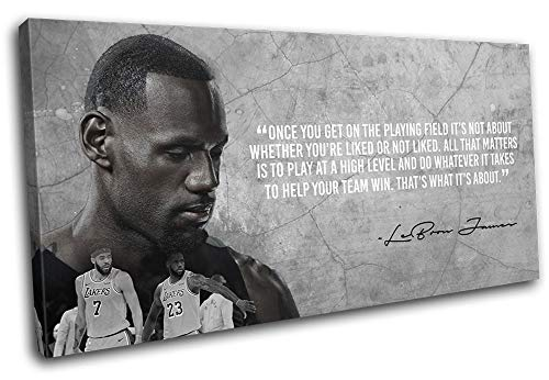 Lebron James Quote on Canvas