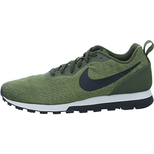 Nike MD Runner 2 Eng Mesh, Zapatillas para Hombre, Verde (Cargo Khaki/Black-Light Blue Fury 301), 43 EU