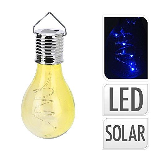 Excellent Houseware - Lampadina a energia solare, colore: bianco