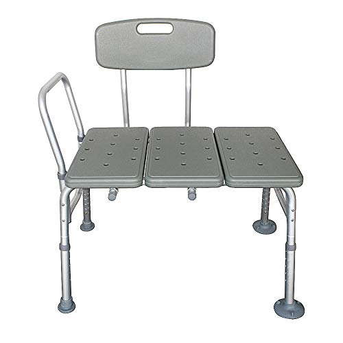 Wnvivi Transfer Bench for Bathtub, Portable Bath Seat Adjustable Shower Bench Tub Transfer Bench with Protection Multiple Safety Features, Tool-Less Assembly Height Adjustable