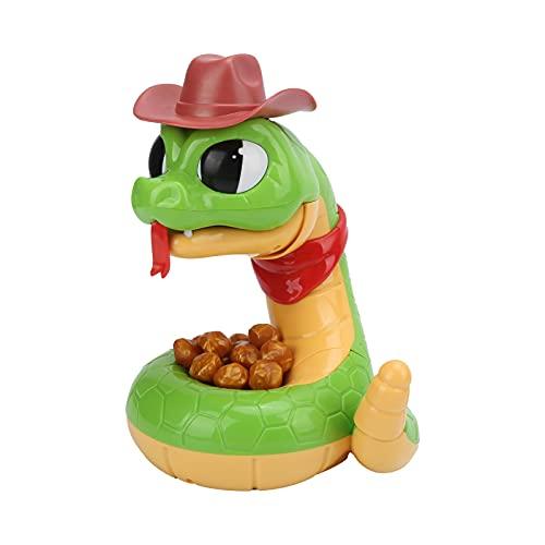 Juguete complicado de serpiente de cascabel eléctrica, simula la cola redonda y gatillo de inducción suave, juguetes de serpiente de descompresión de terror para ejercitar la capacidad de