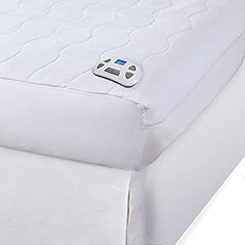 Serta   Silky Smooth Plush Velour Electric Heated Mattress Pad with Hypoallergenic Fill Full