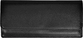 Royce Leather RFID Blocking Credit Card Clutch Wallet in Saffiano Leather, Black