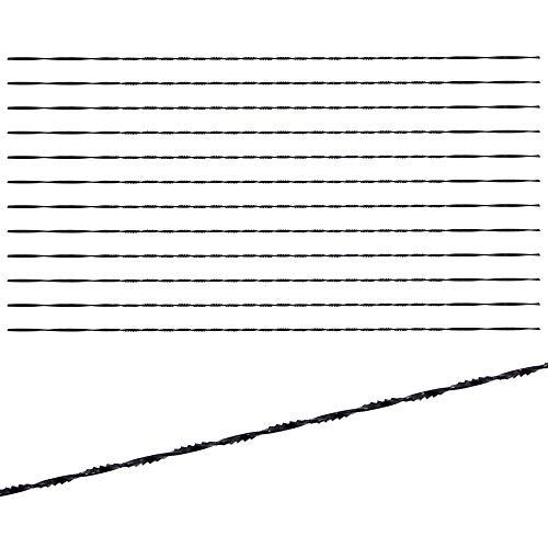 CYUaoao - 12 Piezas Hojas de Sierra de Desplazamiento 130 mm Sierra Espiral Marqueteria para Cortar Madera Metal y Plástica - #2