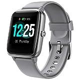 PUTARE Smartwatch, Reloje Inteligente Impermeable IP68 para Mujer Hombre niños, Smart Watch con Monitor de Frecuencia Cardíaca/Sueño/Calorías/Pasos,Pantalla Inteligente de 1.3'para iOS Android (Gris)