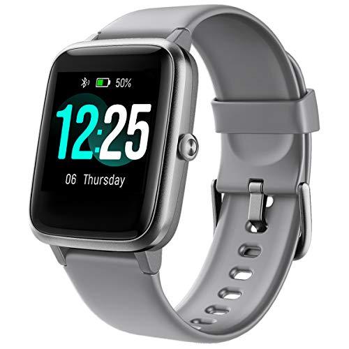 Smartwatch, PUTARE Fitness Tracker Schrittzähler Wasserdicht IP68 Sportuhr Fitness Armbanduhr mit Pulsuhren Fitnessuhr für Android iOS Handy Smart Watch für Damen Herren,Grau