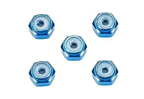 タミヤ ミニ四駆 グレードアップパーツ No.500 2mmアルミロックナット (ブルー5個) 15500