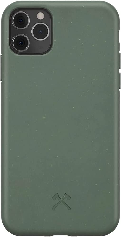 Woodcessories - Phone Case Compatible with iPhone 11 Pro Max Case Green - Ecofriendly, Made of Plants