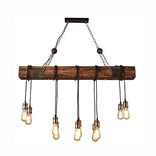 Kroonluchter, Amerikaanse stijl Loft Retro Industrial Wind Chandelier, Nostalgic Restaurant Bar Planken Lamp Head Chandelier