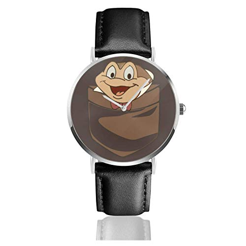 Relojes Anolog Negocio Cuarzo Cuero de PU Amable Relojes de Pulsera Wrist Watches Imitación de Bolsillo Sr. Toad