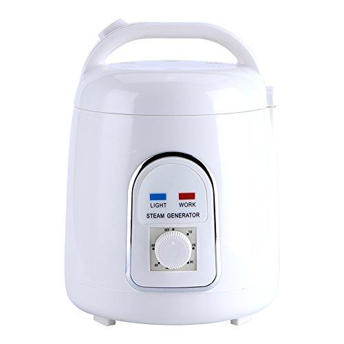 Caredy Sauna-Dampfgarer, 1.5-1.8L tragbarer Saunadampferzeuger Hauptbadekurort-Saunadampfer-Topf für Dampfkabine, Dampfsauna(220V EU Stecker)