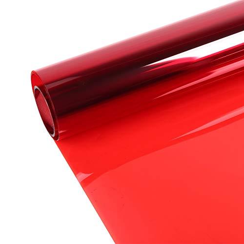 Folie voor ramen in de zon, decoratieve raamfolie, voor warmte-isolatie, kleur rood, 0,5 x 3 m, voor thuis
