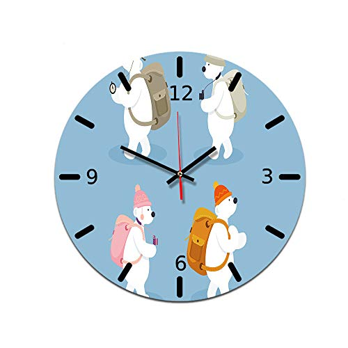 LUOYLYM Nordic Dekorative Uhr Wanduhr Acryl Dekorative Uhr Stumm Bewegung Spiegel Uhr Wohnzimmer Wanduhr Ctt-10 28CM