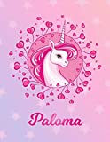 Paloma: Unicorn Sheet Music Note Manuscript Notebook Paper   Magical Horse Personalized Letter P Initial Custom First Name Cover   Musician Composer ... Notepad Notation Guide   Compose Write Songs