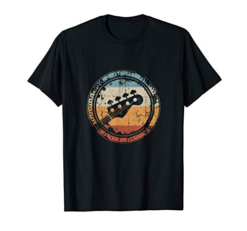 Vintage Bass Guitar Headstock for Bassist and Bass Player T-Shirt