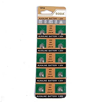Tianqiu Battery - AG3 Button Cell 10 Pc