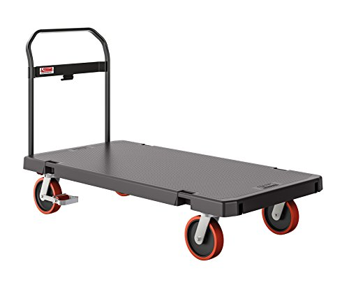 SUNCAST COMMERCIAL PDPTSD3060 Platform Truck,62 in. L,Gray/Red