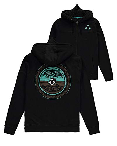 Difuzed Assassin'S Creed Valhalla Hooded Sweater Shield and Hammer Size M