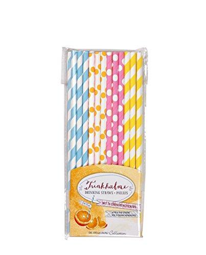 Spiegelburg 12140 Lot de 24 pailles en papier pour petit-déjeuner