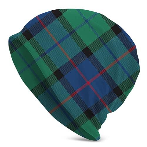 Flower Of Scotland Tartan32 - Gorro de punto para hombre, diseño de calavera