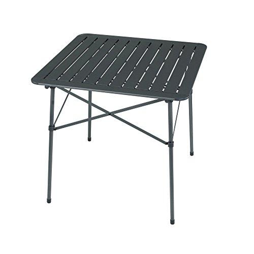 Portal Alex Campingtisch 70x70x70cm 2-4 Mann Klapptisch Reisetisch Gartentisch mit Aluminium Platte