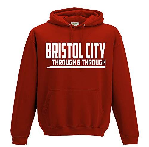 Bristol City Through & Through Premium Mens Hoodie (Medium) Red