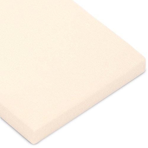 CelinaTex Casca Topper hoeslaken 180x200-200x220 cm natuur katoen hoeslaken elastaan laken