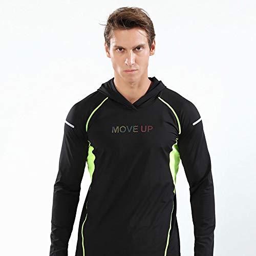 Wisport Sweat-Shirts à Capuche de Remise en Forme pour Hommes,Green,XL