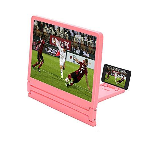YOLE Mobile Lazy Staffa, Pieghevole Pigro Staffa 7,8 Pollici HD 3D Amplificatore Pieghevole Creative Mobile Phone Staffa di Protezione UV radiazione Anti-affaticamento,Pink