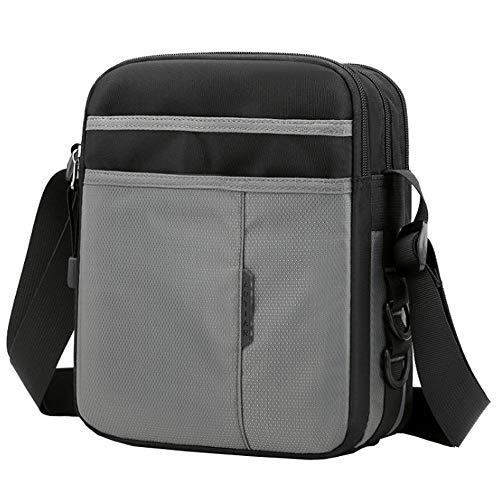 SPAHER Canvas Vintage Unisex Shoulder Bag Messenger Bag Handbag Backpack Crossbody Bag Briefcase Laptop Bag Satchel Travel Bag School Bag for Men Women Students 11 Laptop MacBook Air (Grey)