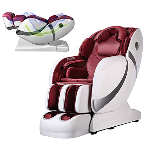 3D SL-Shaped Zero Gravity Luxury Multi-Function Massage Chair with Heating in Back, Bluetooth Connection for Speaker, 5 Pre-Programmed Whole Body Massage Therapies