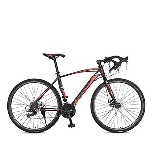 MIRC Road Bike Mountain Bike Racing Men's Aluminum Alloy Adult Ultra Light 700c Broken Wind Speed,Red,M