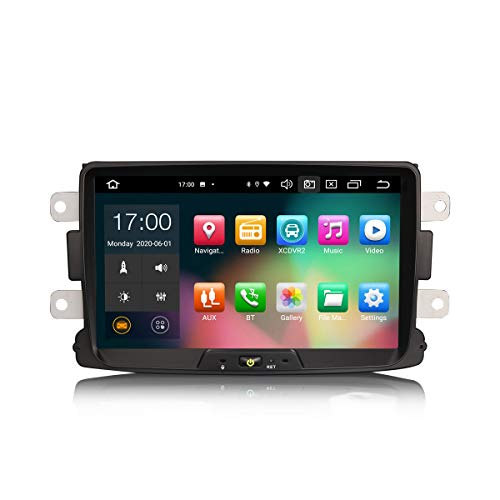 ERISIN 8 pollici Android 10.0 Autoradio per Renault Dacia Duster Sandero Dokker Supporto GPS Sat Nav Carplay Android Auto DSP Bluetooth Wifi DAB + TPMS 8-core RAM 4GB + 64GB ROM