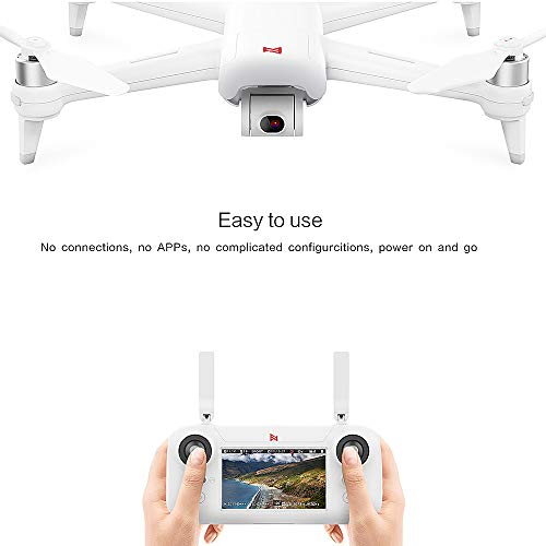Goolsky FIMI A3 Drone GPS with Camera 3 Axes Gimbal 1080P 5.8G FPV Drones Real Time Transmission Aerial Photography 25mins Flight Time 4.3 Inch LCD Remote Control Built-in RC Quadcopter