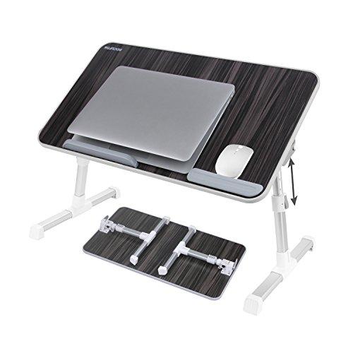 NEARPOW Tablett Laptop Tisch Betttisch Laptoptisch Notebookständer Schreibtisch Frühstückstisch Höhenverstellbar Faltbare Beine Bücherständer Lesehalter für Sofa, Bett,PC (Schwarz-Large)