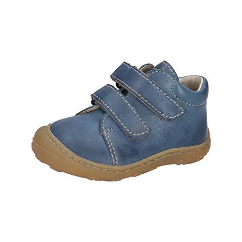 RICOSTA Unisex - Kinder Boots Chrisy von Pepino, Weite: Mittel (WMS),lose Einlage,Kinderschuhe,Klettstiefel,Leder,Jeans (143),22 EU / 5 Child UK