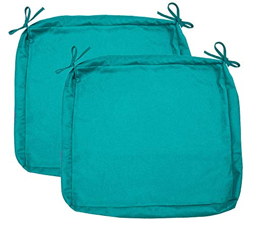 Sigma Outdoor Seat Cushion Cover Water RepellentPatio Deep Seat Chair Cushion Cover-Only Cover Teal 24'x24'x4'(2 Covers)