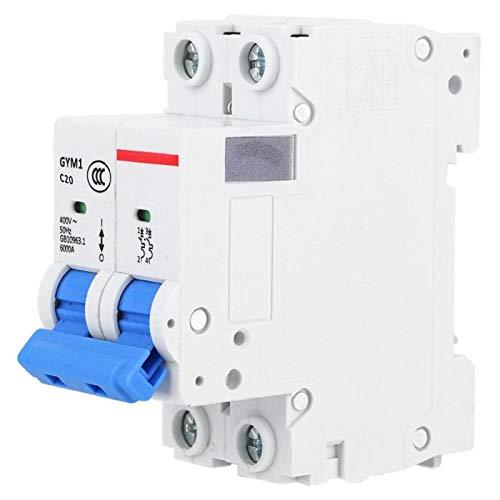 Interruptor de aire 400V 4500A Caja de disyuntor en miniatura de fuga 2P para montaje en riel DIN(20A)