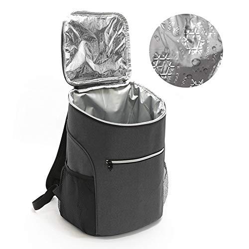 Picknickrucksack Weintragetasche Kühl Rucksack Kühltasche Thermotasche Picknicktasche Eistasche Lunchtasche Isoliertasche Kühlrucksack Kühlbox Rucksäcke Cooler Bag für Warmen und Kalten Essen 20L