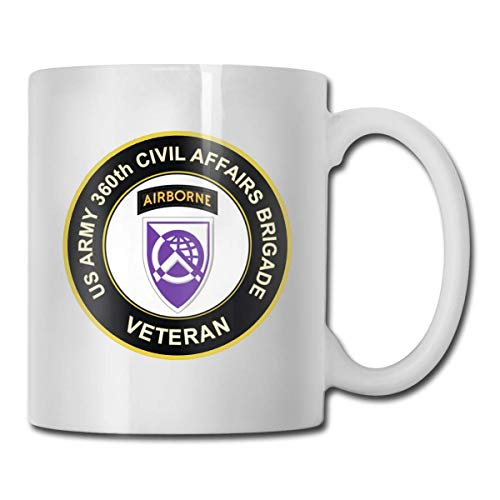 N\A 360th Civil Affairs Airborne Brigade Taza de café Personalizada Taza de té Regalos Blancos T Regalos del día de la Madre, Regalos del día del Padre, Regalos del Abuelo