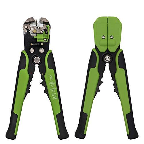 L-YINGZON Alicates HS-D1 / D2 autoajustables Pinzas de Aislamiento Pelacables 0.2-6mm2 de desmontaje del Cable Que Prensa Herramienta del Cortador Pelacables Herramienta (Color : HS D2 Green)