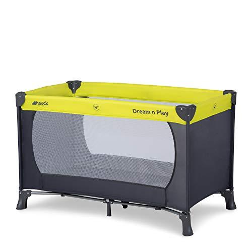 Hauck Reisebett Dream N Play / für Babys und Kinder ab Geburt bis 15 kg / 120 x 60 cm / Leicht / Kompakt Faltbar / Inkl. Trage Tasche / Grau Grün