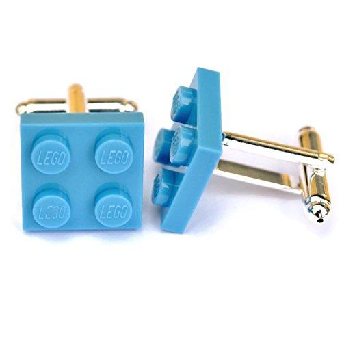 Lego® Plaque boutons de manchette (Bleu clair), mariage Mariés, Idée Cadeau pour Homme