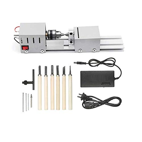 Best Deals! Best Selling Products Mini Lathe Beads Machine Woodworking DIY Lathe Standard Set with P...