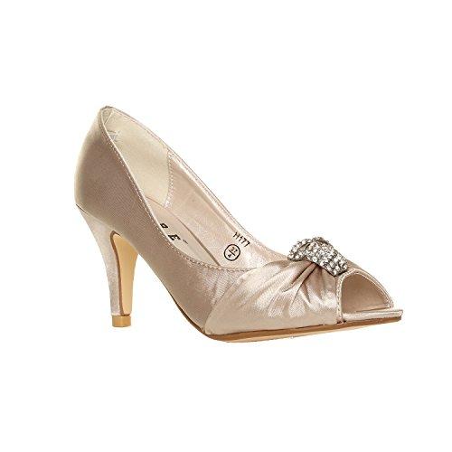 Zapatos de tacón bajo para mujer, para boda, novia, dama de honor,...