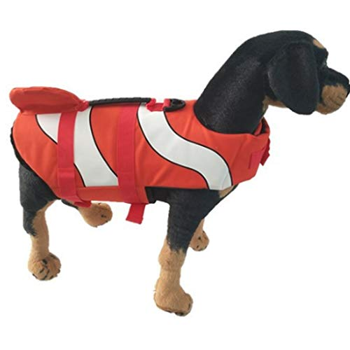 WZCGYLY Dog Chaleco Salvavidas for Perros Ajustable Reflexivo Chaleco Salvavidas for Perro Chaleco De Seguridad,para Piscina, Playa, Remo,S/M/L (Size : S)