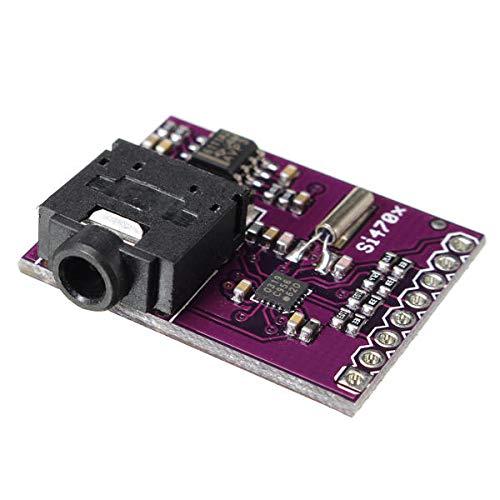 YEZIB Accesorios electrónicos de Bricolaje, Tablero de Desarrollo de evaluación de sintonizador de Radio FM para SI4703