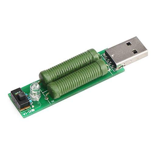 Lorsoul Elektronische Last USB-Ladestrom 5 Ohm Entladung Alterungsbeständigkeit Brett-Modul, Micro Battery Last Tester Detector